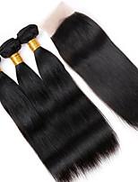 Человека ткет Волосы Перуанские волосы Прямые 12 месяцев 4 предмета волосы ткет