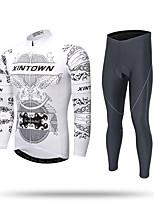 XINTOWN Calça com Camisa para Ciclismo Homens Manga Comprida Moto Calças Moletom Camiseta com Fecho Camisa/Roupas Para Esporte Blusas