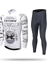 XINTOWN Fahrradtrikots mit Fahrradhosen Herrn Langärmelige FahhradHosen/Regenhose Trainingsanzug Reißverschluss - Top Trikot/Radtrikot