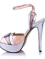 Women's Sandals Summer Comfort PU Wedding Party & Evening Casual Stiletto Heel Multi-color