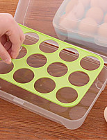 15 Kitchen Refrigerator Egg Box Preservation Box The Portable Plastic Put Eggs Receive A Case For A Picnic Color Random