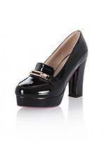 Mariage Bureau & Travail Habillé Décontracté Soirée & Evénement-Noir Rose Violet Blanc Amande-Gros Talon-Confort Nouveauté-Chaussures à