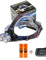 U'King® ZQ-X838B#2-EU 2*CREE XML-T6 4000LM LED 3Modes Headlamp Bicycle Lamp Kit Emergency Charging for your Mobile Devices