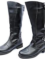 Черный-Для мужчин-Для офиса Повседневный Для вечеринки / ужина-Синтетика-На толстом каблуке-Удобная обувь-Ботинки
