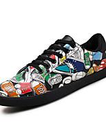 Для мужчин-Для прогулок Повседневный-Материал на заказ клиента-На плоской подошве-Удобная обувь Светодиодные подошвы-Кеды
