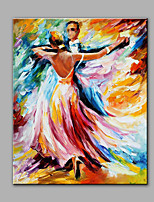 Hand-Painted Abstract  Tango  dancing Modern Classic One Panel Canvas Oil Painting For Home Decoration