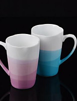 Minimalism Drinkware 250 ml Decoration Ceramic Water Coffee Mug Gradient Color Random Style 1pcs