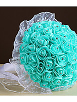Wedding Flowers Round Roses Bouquets Wedding Party/ Evening Foam 8.27