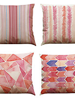 Set of 4 Nordic simple style pattern  Linen Pillowcase Sofa Home Decor Cushion Cover