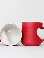 Colored Novelty Drinkware, 400 ml Heat Sensitive Color-changing Ceramic Tea Coffee Daily Drinkware