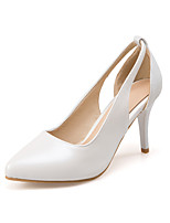 Women's Sandals Spring Summer Fall PU Office & Career Dress Party & Evening Stiletto Heel White Silver Blushing Pink