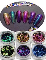 1pcs Glitter Nail Art DIY Decoration Colorful Chameleon Irregular Shape Accessories DIY Nail Art Beauty Design BS01-06