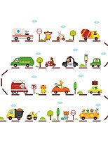 Cartoon Transportation Sports Wall Stickers Plane Wall Stickers Decorative Wall Stickers,Vinyl Material Home Decoration Wall Decal