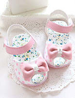 Baby Flats Summer First Walkers Other Animal Skin Outdoor Casual Low Heel Magic Tape Fuchsia Blue Pink Walking