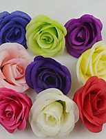 1 Branch Plastic Roses Tabletop Flower Artificial Flowers 8*8*5