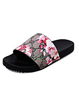 Sandals Spring Summer Comfort PU Dress Casual Chunky Heel Others Braided Strap Black Red
