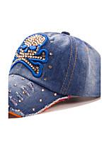 femmes crâne strass tête cowboy lavé casquette de baseball occasionnel