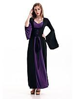 Costumes de Cosplay Sorcier/Sorcière Reine Cosplay de Film Noir Bleu Violet Rouge Robe Halloween Carnaval Nouvel an Féminin Térylène