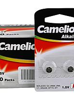 botão célula Camelion ag3 moeda bateria alcalina de 1,5 V com 100 cartões