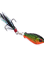 8 pcs Fishing Lures 2.5cm road bait Random Colors