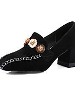 Черный РозовыйДля офиса Для праздника Для вечеринки / ужина-Кашемир-На толстом каблуке-клуб Обувь-Обувь на каблуках