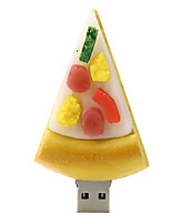 128GB Pizza Rubber USB2.0 Flash Drive Disk