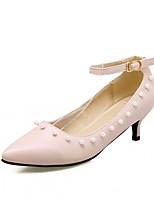 Tacón Stiletto-Confort Innovador-Tacones-Boda Oficina y Trabajo Fiesta y Noche Vestido Informal-Cuero Patentado Semicuero-Azul Rosa Beige