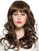 высокое качество коричневый парик глубокие волнистые синтетические волокна прическа костюм косплей парик