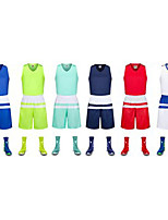 Kid's Soccer Clothing Sets/Suits Breathable Sweat-wicking Comfortable Spring Summer Fall/Autumn Winter Patchwork PolyesterLeisure Sports