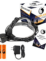U'King® ZQ-X831B#5-US Waterproof 2000LM CREE XML-T6 LED 3 Modes Headlamp Bike Light Kit USB Rechargeable