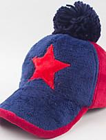 Women Cotton Stitching Color Fashion Five-star Plush Warm Baseball Cap