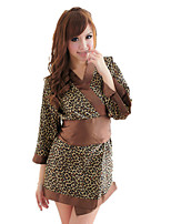 Women's Suits Nightwear,Sexy Leopard-Thin Nylon Spandex