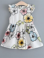 Girl's Floral Dress,Cotton Summer Sleeveless