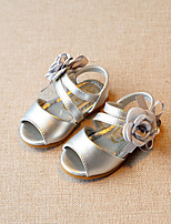 Baby Flats Summer First Walkers Leatherette Outdoor Casual Low Heel Magic Tape Silver Beige Pink Walking