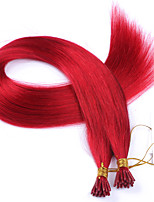 Peruvian Best Quality I Tip Hair Extensions 1g/strand Red I Tip Human Hair Extensions 100strand/lot Accept Custom