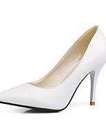 Women's Heels Spring Summer Fall Winter PU Office & Career Dress Party & Evening Stiletto Heel White Black Blushing Pink