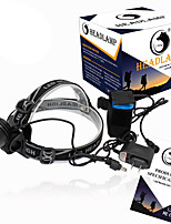 Lampes Frontales LED 2000 Lumens 3 Mode Cree XM-L T6 18650 Taille CompacteCamping/Randonnée/Spéléologie Usage quotidien Cyclisme Chasse