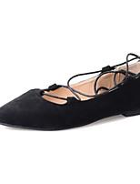 Sandalen-Kleid Lässig-PU-Flacher Absatz-Komfort-Schwarz Grau