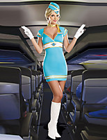 Women Sexy Stewardess Uniforms Ladies Air Hostess Flight Attendant Costumes for Halloween Party Cosplay Fancy Dress Costumes