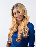 novo padrão encantador longos cabelos crespos cor misturada peruca sintética prevalecente