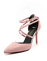 Heels Spring Comfort PU Outdoor Stiletto Heel Black Green Pink Gray