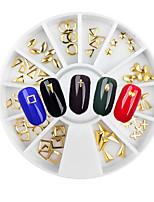 1set Metal Gold Rivets Alloy Jewelry Nail Art Decoration