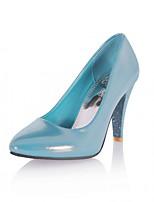 Tacón Stiletto-Confort Innovador-Tacones-Boda Oficina y Trabajo Vestido Informal Fiesta y Noche-Cuero Patentado Semicuero-Azul Rosa Beige