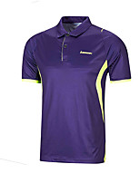 Men's Short Sleeve Running Tops Breathable Comfortable Summer Sports Wear Badminton Polyester Loose Solid