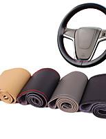 autoyouth микро автомобиля рулевого колеса покрытия волокна кожи универсальный стиль подходит для поделок крышки сшивания автомобиль