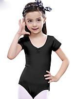 Балет Балетное трико Детские Учебный Хлопок 1 шт. Короткий рукав Средняя талия трико 50,52,54,56,58,60