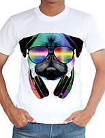 Men's Casual/Daily Party/Cocktail Club Boho Street chic Punk & Gothic Spring Summer T-shirtPrint Round Neck Short Sleeve Multi-color