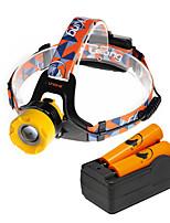 Налобные фонари LED 2000 Люмен 3 Режим Cree XM-L T6 18650 ФокусировкаПоходы/туризм/спелеология Повседневное использование Велосипедный