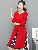 Vraie robe féminine de plomb 2017 la partie longue de printemps et d'automne de la version coréenne était une jupe en mousseline imprimée