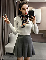 Sign new winter fashion Korean bow lace round neck sweater pullover shirt female tide